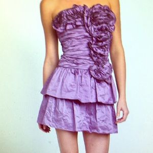 New$478 BCBG Max Azria Violet Marcella Metal Dress